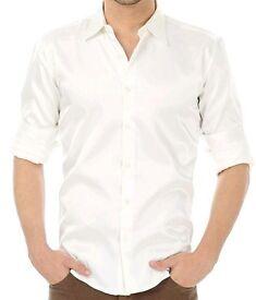 "Mens long sleeve 17.5"" white shirt £5 each"