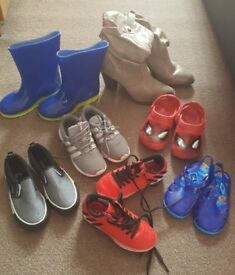 Boot sale job lot shoes trainers mainly boys 9&10