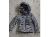 Girls winter coat age 7/8