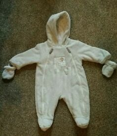 Mamas and Papas snowsuit all in one coat 3-6 months