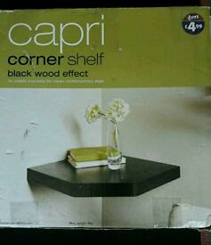 Black Corner Shelf New In Box