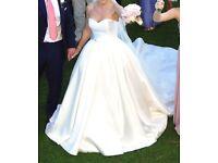 Stunning Pronovias Ballgown Wedding Dress (Amanda) Mikado Silk size 10