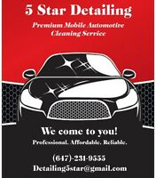 5 Star Mobile Detailing - We Come to You! Affordable & Reliable