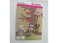Simplicity pattern K1900 - 30 pieces for stuffed animals