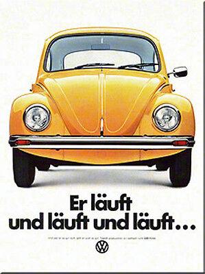 VW Beetle Er Lauft Und Lauft.... fridge magnet (na)