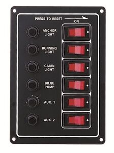 Circuit-Breaker-Switch-Panel-6-Way-Vertical-for-Boat-Marine