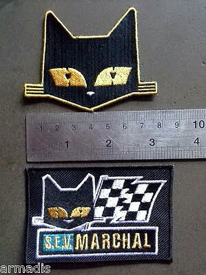 VINTAGE S.E.V. MARCHAL FOG LIGHTS bulbs HISTORY Patch FOR SALE CAT LOGO VECTOR - Vector Costume