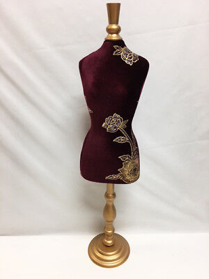 25 Tall Jewelry Marroon Gold Mannequin Retail Store Display