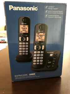 Panasonic 2-Handset DECT 6.0 Cordless Phone With Answering Machi