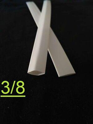 38 Inch 9.5mm White 21 Heat Shrink Tubing Polyolefin 1foot
