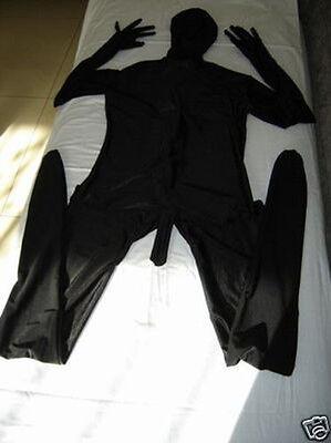 Lycra Spandex skin zentai costume black suit with men's penis sz s-xxl](Suit Penis)