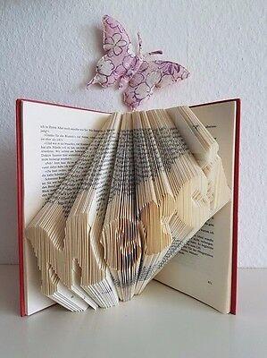 """Dekoration/Geschenk- Schriftzug """"MERCI"""" - Unikat - Book folding - Buch falten"""