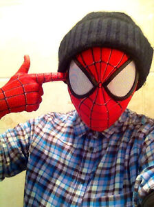 Free Shipping ! Stunning Amazing Spider-Man 2 Red Mask 3D Digital Printing Props