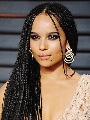Black Braided Wig (Black Braided Cornrows Wig African Lace Front Synthetic Hair Wig Heat Safe)