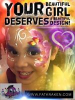 Hand painted tattoos, face painting, balloon animals
