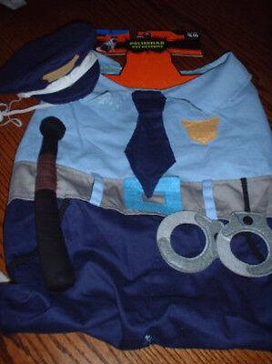 POLICEMAN Dog COSTUME M Suit Hat 2pc NEW Medium Police PET COP LAW ENFORCEMENT - Dog Cop Costume