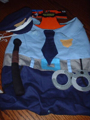 Cop Dog Costume (POLICEMAN Dog COSTUME M Suit Hat 2pc NEW Medium Police PET COP LAW)