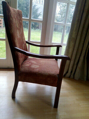 Vintage 20 century  oak framed  armchair for refurbishment