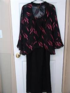 Vintage Olique dress two pieces  jacket /dress with Pink inserts