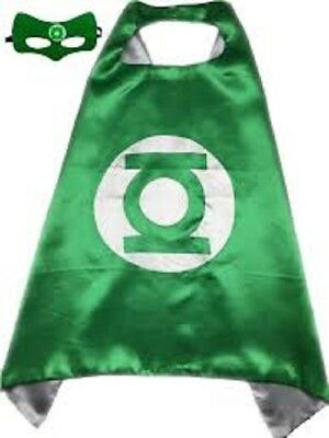 e Cape and Mask Set Kids DC Comics Superhero Dress Up (Green Lantern Maske)