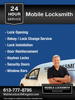 24 Hr Mobile Locksmith Kingston (613) 777-8795