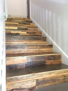 DIY PALLET WOOD reclaimed barnboard accent wood wall