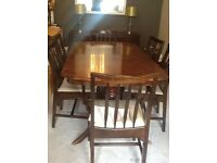 Stag dining table with 6 chairs and matching Stag sideboard