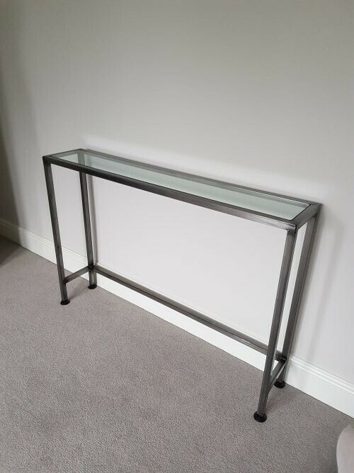 premium selection edb23 c9f33 BESPOKE HAND CRAFTED CONSOLE HALL TABLE INDUSTRIAL STYLE GLASS TOP | in  Forest Town, Nottinghamshire | Gumtree
