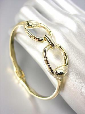 Gold Magnetic Bracelets - CHIC Designer Inspired Gold Horsebit Buckle Magnetic Clasp Bracelet