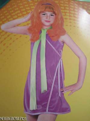 LITTLE GIRL~SCOOBY-DOO DAPHNE CHILD 70'S STYLE HALLOWEEN COSTUME~SMALL 4-6~NWT (Daphne Costume Child)