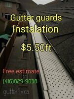 Gutter guards installation $5.50ft