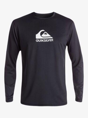 Quiksilver Mens Solid Streak Long Sleeve UPF 50 Surf Tee Black