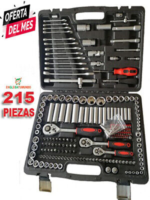Maletín de herramientas Set Llaves de Vaso y Carraca de 215 Piezas