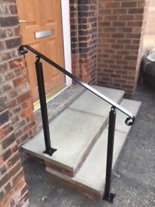 Wrought Iron Handrail For Stairs Elderly Access Safety Barade Garden Metal