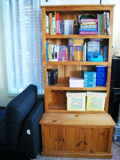 Everyday Living Solid Pine Bookcase 4 Shelf Storage Chest Toy Box Epping Ryde Area Preview