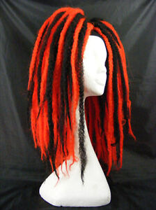 KRINKLEPUFFS RED BLACK HAIR FALLS CYBERLOX DREADS CYBER GOTH