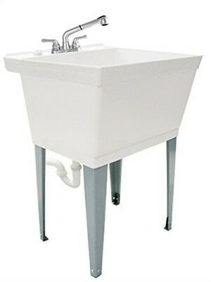 LDR 040 6000 Terminated 19 Gallon Laundry Utility Tub Set with Pull-Out Non-Metall