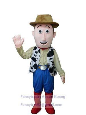 Neu Toy Story Woody Maskottchen Kostüm Erwachsene Größe Halloween Geburtstag ()