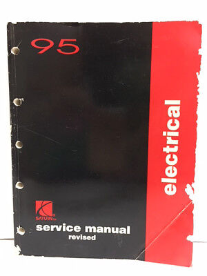 1995 SATURN Electrical Auto Repair Shop Revised Service Manual
