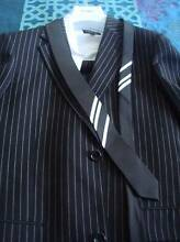 Casual Guy Mens Wear Black/White Striped Suit Meadow Heights Hume Area Preview