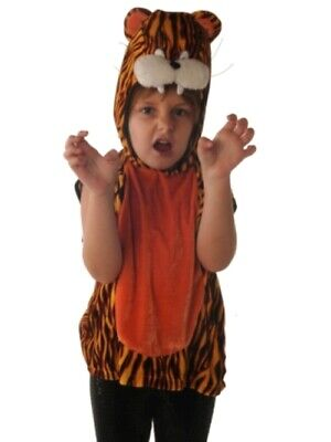 Costumes With C (Child's Tabard - Tiger - Top with Hood - Fancy Dress Costume - 6-8)