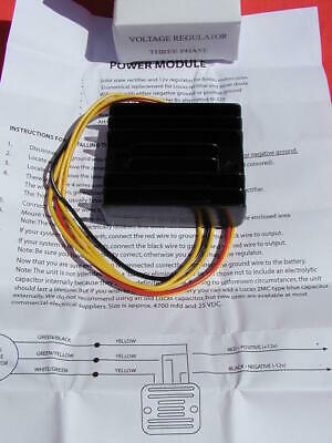 NEW 12 VOLT 12V SOLID STATE 3 PHASE RECTIFIER VOLTAGE REGULATOR BSA TR