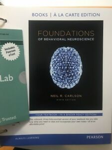 Foundations of Behavioral Neuroscience, with myPsychLab - NEW