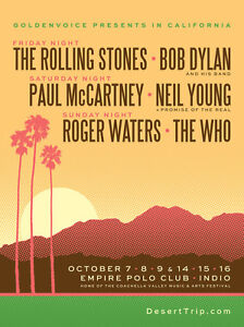Desert Trip Hotel Rooms- PALM SPRINGS - Event Tickets Not Inc.
