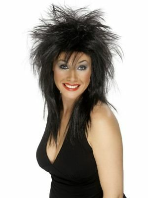 80er Damen Rock Star Diva Perücke Rockstar Motto Party Kostüm - 80er Rock Diva Kostüm