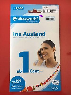 3x Blauworld Prepaid SIM-Karte inkl. 10€ Guthaben