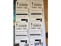 Bargain Thorpe Park Tickets x 4