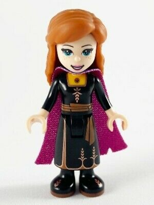New LEGO Disney - Frozen - Anna Minifigure w/ Black Dress & Purple Cape - dp073