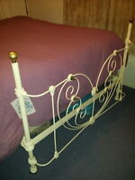 1999!HEARTSHAPE ROMANTIC 1800's ANTIQUE BRASS &IRON 4POSTER BED