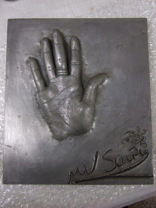 Mel B's hand print